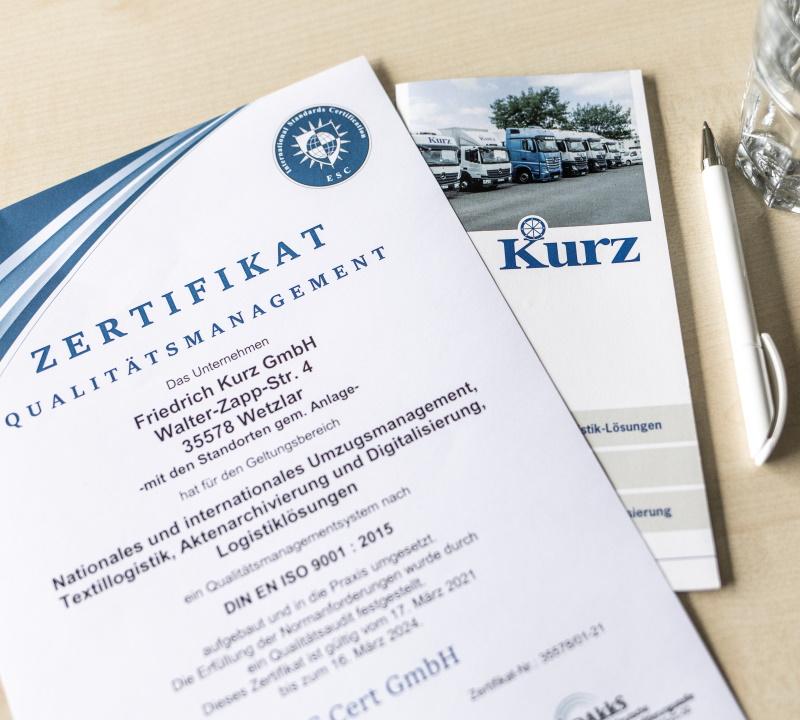 Kurz-Gruppe - Zertifizierter Logistik-Dienstleister in Wetzlar